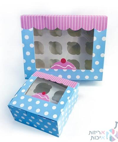 קופסאות לקאפקייקס עם חלון