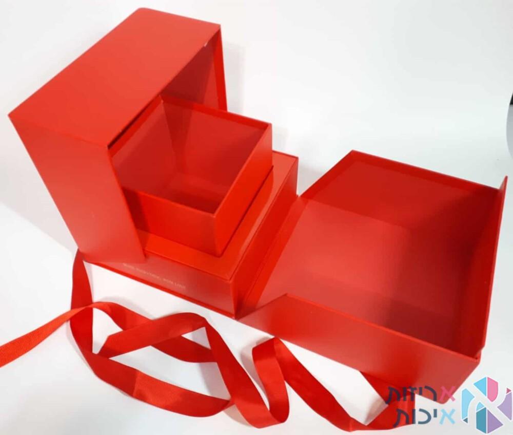 קופסאות לפרחים קשירת סרט פתוח