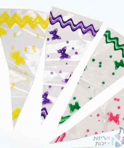 שקיות צלופן משולשים צבעוניות 2