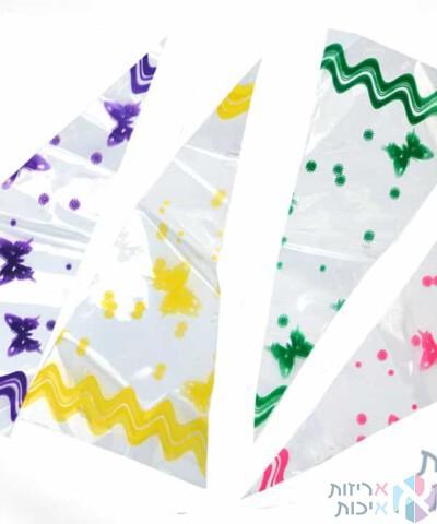 שקיות צלופן משולשים צבעוניות