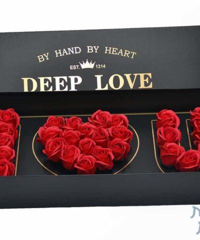 קופסאות לפרחים - I LOVE YOU