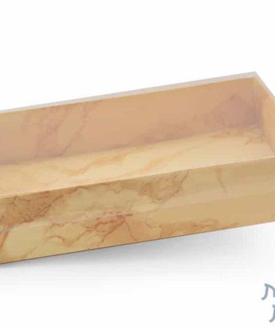 קופסאות קרטון עם מכסה שקוף – 30438 דגם שיש זהב