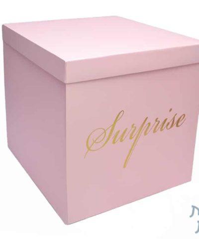 קופסאות לפרחים - קופסא הפתעה מתפוצצת בצבע ורוד