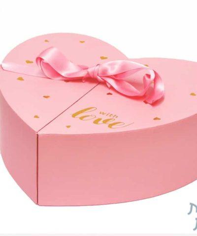 קופסאות לפרחים - קופסת לב נפתחת לשתיים (2)
