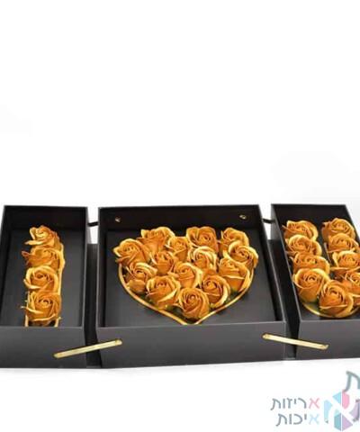 קופסאות לפרחים- קופסאת I LOVE YOU נפתחת לשלוש