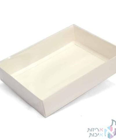 קופסאות קרטון עם מכסה שקוף במידה 19245