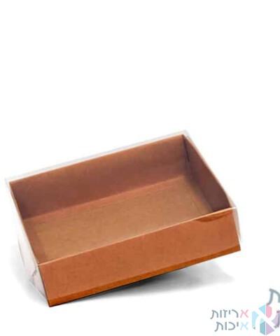 קופסאות קרטון עם מכסה שקוף במידה 20205- דגם טבעי
