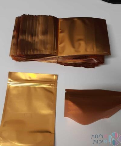 שקיות אלומיניום 913 בצבע זהב