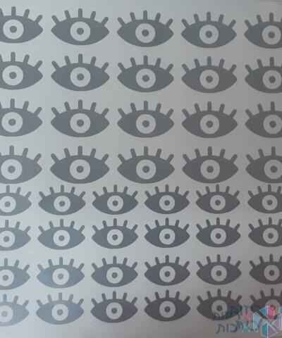 דף מדבקות ויניל עיניים