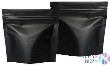 שקיות אלומיניום פסגור ללא חלון במידה 3550 בצבע שחור